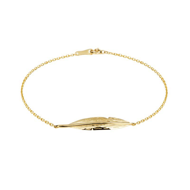 【巧品珠寶】 18K 幸運YA 造型 素金 手鍊