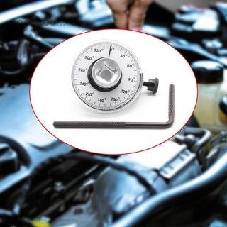 汽車扭力角度規 1/ 2接口扭力錶帶刻度 360度旋轉扳手角度測量工具