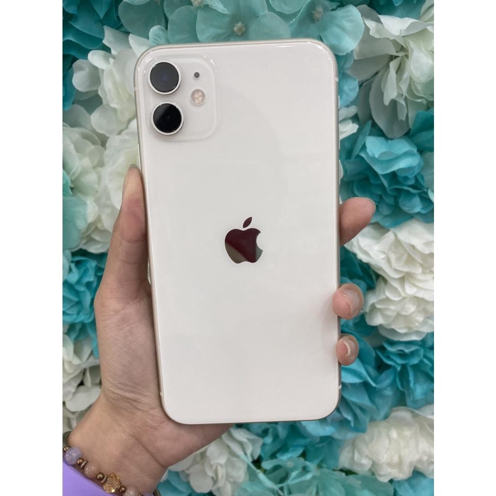 二手蘋果 IPhone 11 256GB 白 女用機9成新 保固到10/10 無卡分期 搭配門號 學生分期聊聊現貨