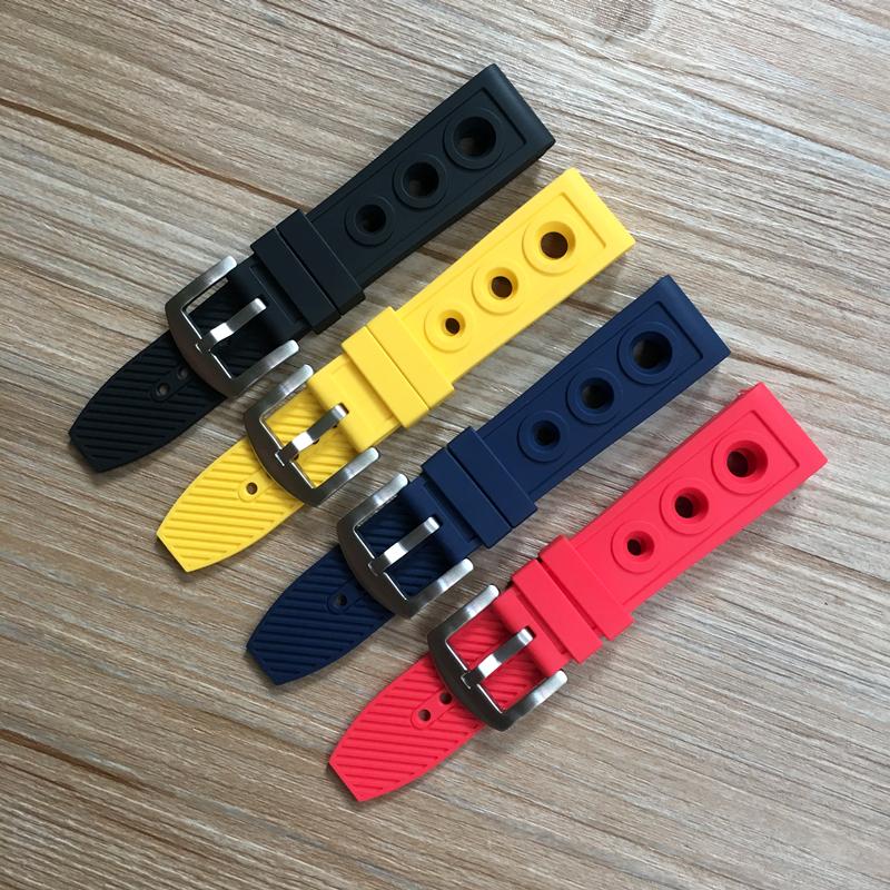 YF 適配Breitling百年靈硅膠錶帶復仇者橡膠手錶帶22 24mm黑鳥偵察機