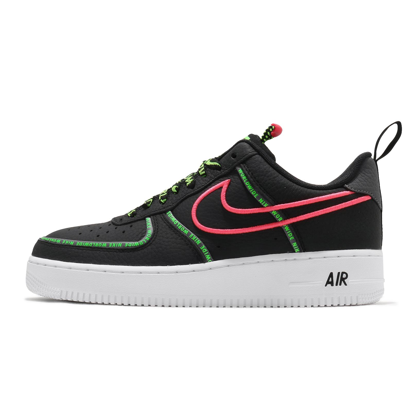Nike 休閒鞋 Air Force 1 07 PRM WW 黑 綠 桃紅 男鞋 AF1 【ACS】 CK7213001