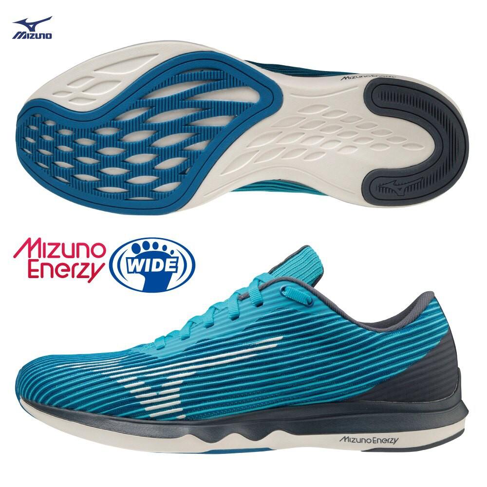 MIZUNO WAVE SHADOW 4 男鞋 慢跑 3E寬楦 ENERZY 回彈 藍【運動世界】J1GC202713