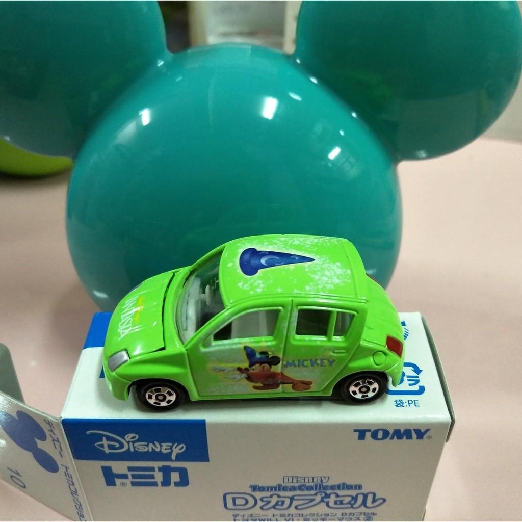 Tomica多美 Disney 廸士尼抽抽樂第1彈Toyota Will Vi 綠色魔法米奇(附米奇蛋頭)