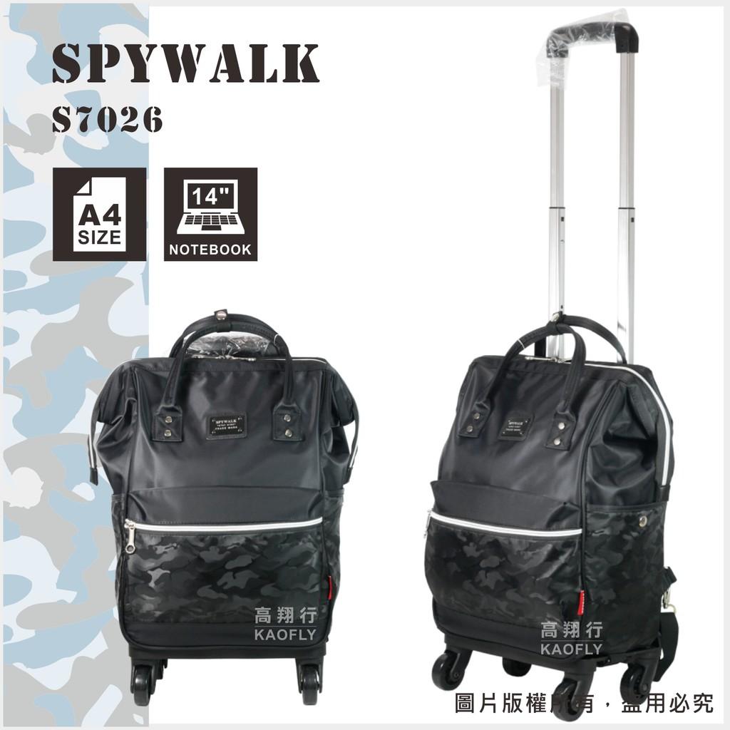 ~高首包包舖~【SPYWALK 】可拆解拉桿後背包  【四輪360度】後背包 拉桿袋  黑色  S7026**