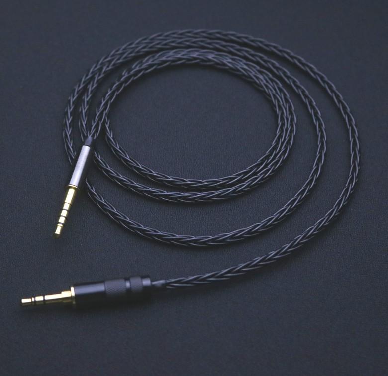 單晶銅鍍銀 天龍AH-MM200 MM400 3.5 2.5 4.4 耳機 平衡線 升級線&&-&