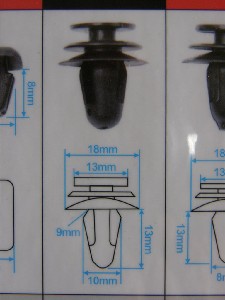 HONDA TIERRA 豐田 福特 鈴木 馬自達 通用型 車門內板固定扣 門內板扣 內飾板扣 門板扣 (大,號碼:5)