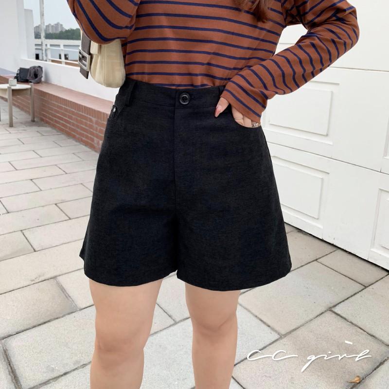 CC-GIRL 日系百搭高腰寬短褲 -共 2 色- 適XL~4L《 90413 》中大尺碼