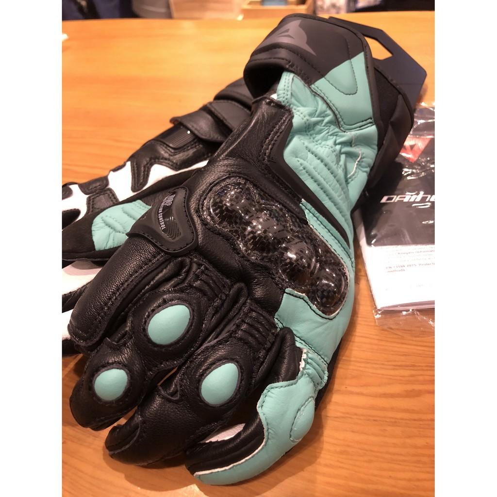 德芯騎士部品屋 Dainese  Carbon 3 LADY Gloves  女版 碳纖維長手套  黑湖水綠