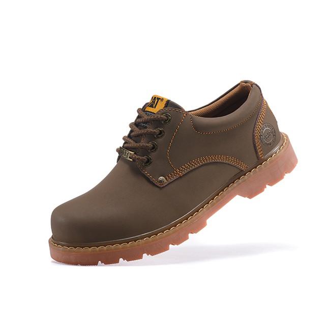 正品代購 CAT 卡特 情侶馬丁鞋 短筒 秋冬款 黃色 低幫工裝 大頭 皮鞋 女鞋大黃靴 男
