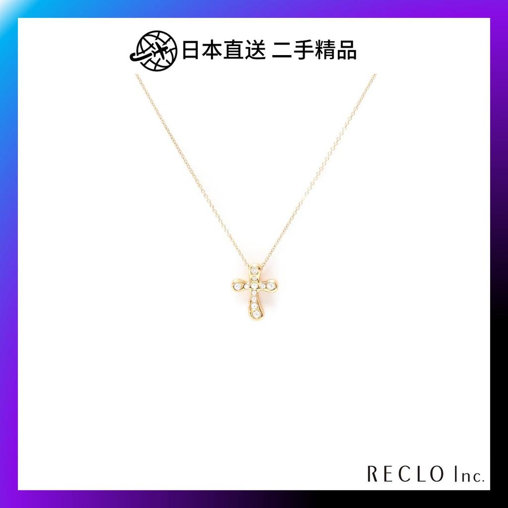 【日本直送】TIFFANY & Co.  鑽石十字架 項鏈 B級 二手 613196