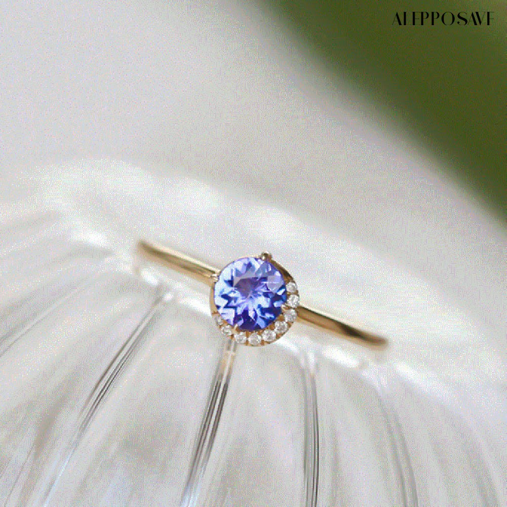 Double S飾品小鋪鍍14K黃金戒指 小清新鑲鋯石鑽極纖細女弦月戒指
