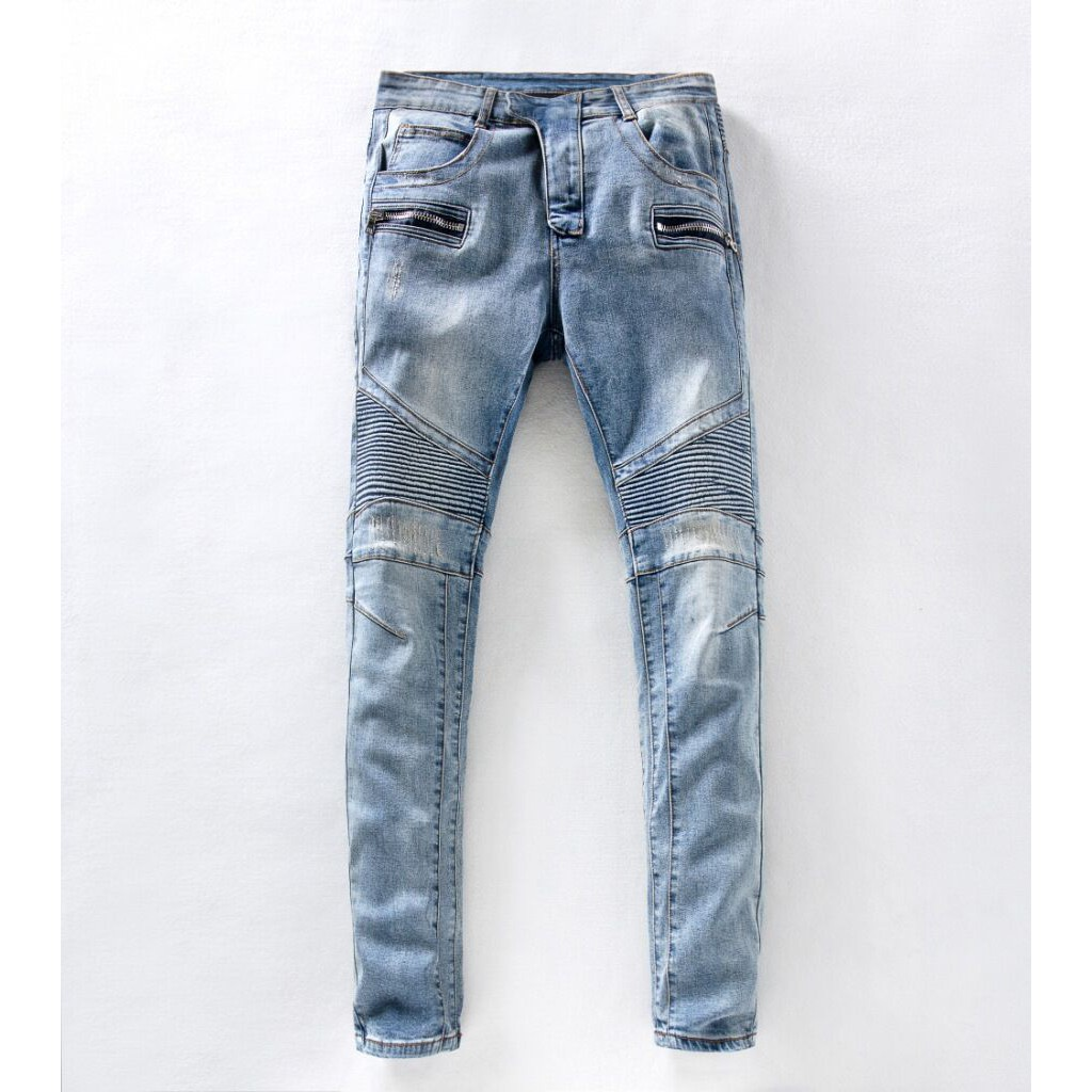 Balmain 巴爾曼經典款潮流男款修身小腳牛仔褲 668