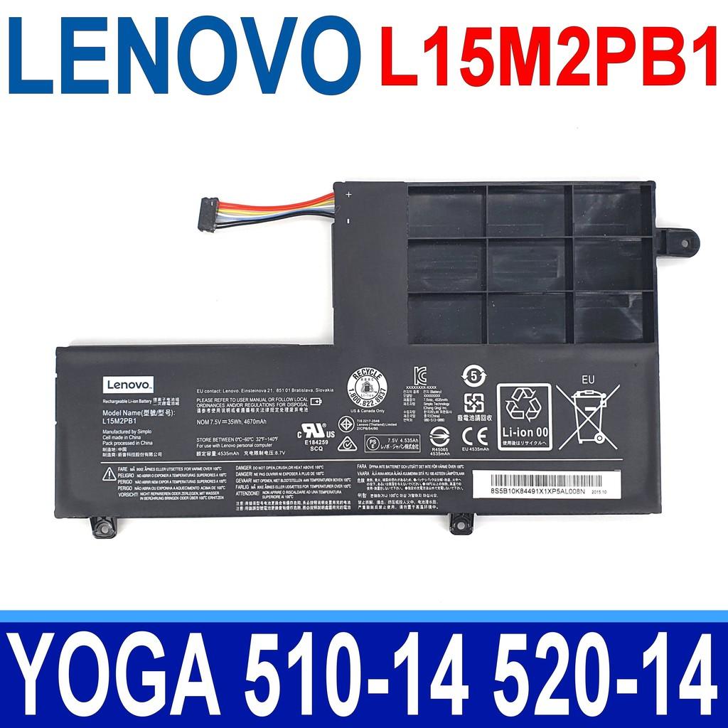 LENOVO L15M2PB1 2芯 原廠電池 L15L2PB1 YOGA 510-14AST 510-14IKB