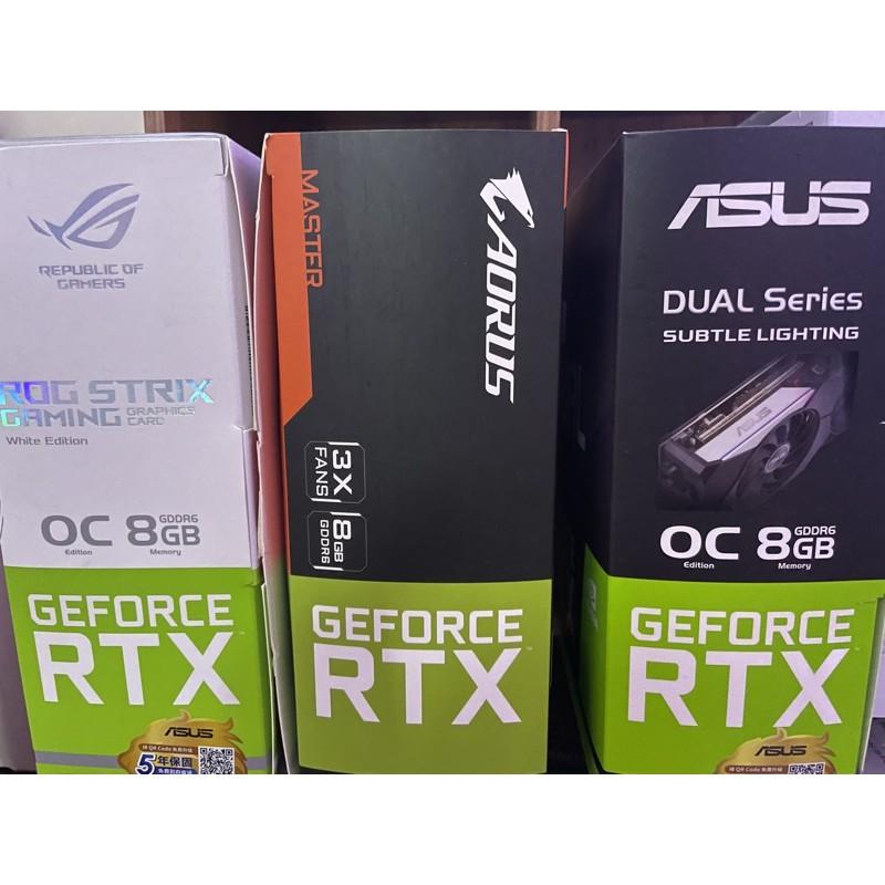ASUS 華碩 ROG Strix RTX 3070 WHITE EDITION Dual 技嘉master顯示卡