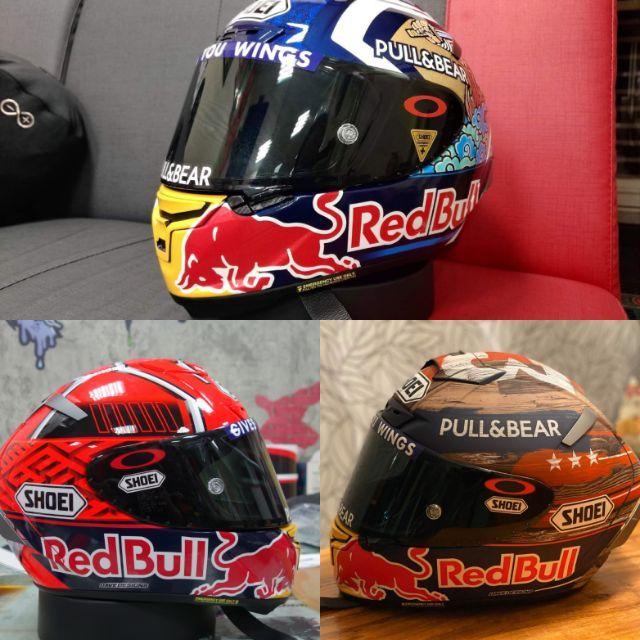 LJ 龍杰貼膜 shoei x14 MotoGP 93祭典帽 選手帽 美國站 redbull 紅牛下巴改件 DIY組