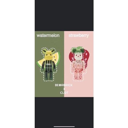BE@RBRICK CLOT 水果熊 粉量登場 淡雪草莓+小玉西瓜 兩色同樣美 可口上市