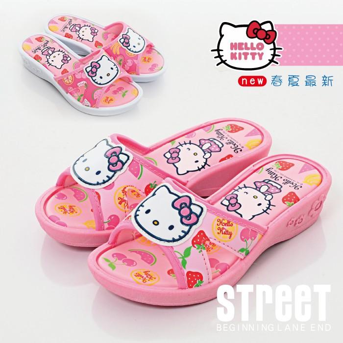 hello kitty 拖鞋 中大童鞋 厚底鞋【街頭巷口】小P孩寶貝城 KT816843-F