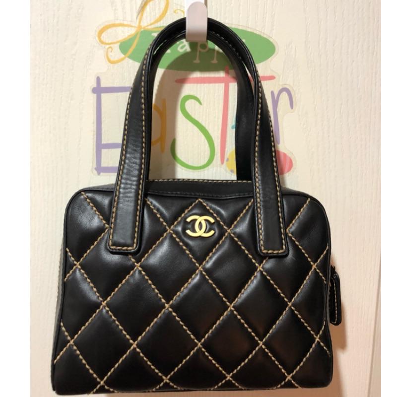 Chanel vintage經典菱格手提肩揹兩用包