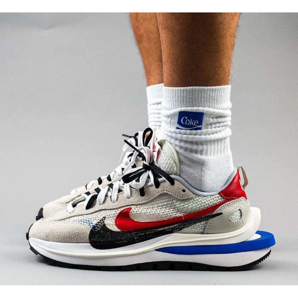 【沃斯菲爾】Sacai x Nike vaporwaffle 白紅藍 結構 CV1363-100