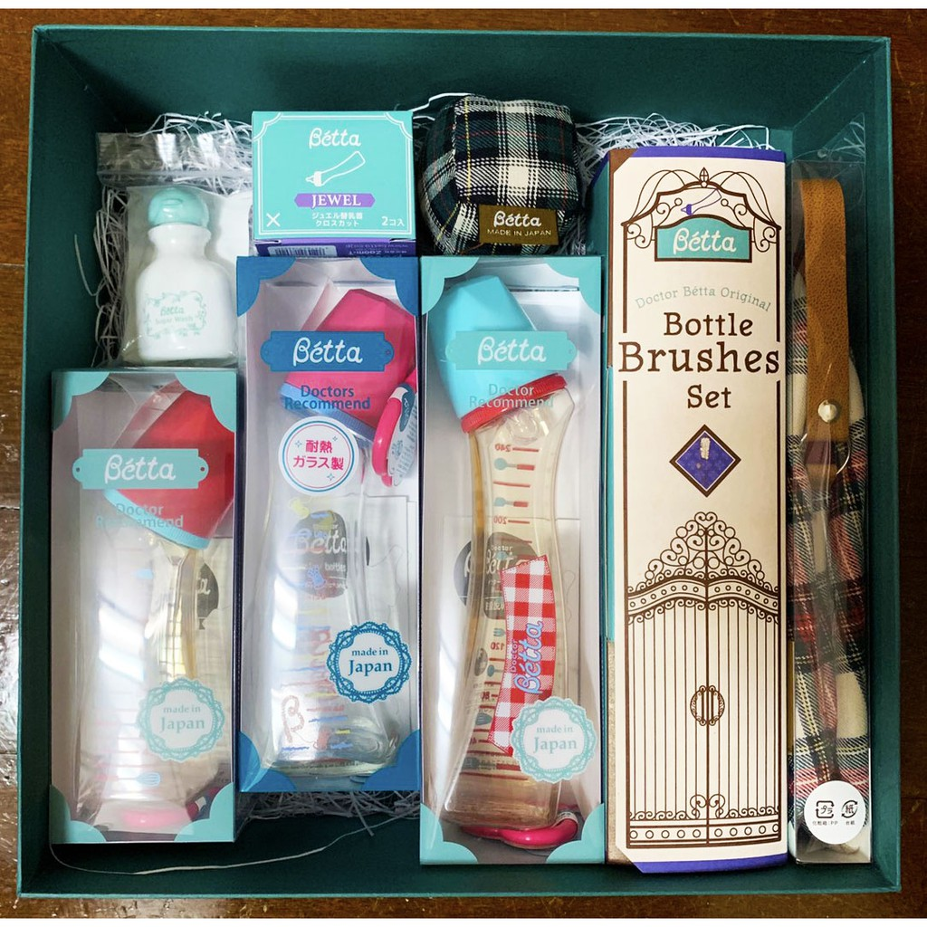 日本製 Betta防脹氣奶瓶 禮盒組<彌月禮> 全新日本帶回