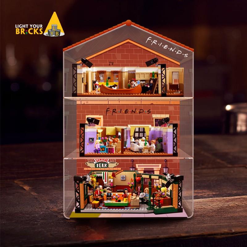 現貨熱賣✤✠LEGO 樂高LEGO 21319 10292老友記公寓一體展示盒防塵罩遙控燈飾