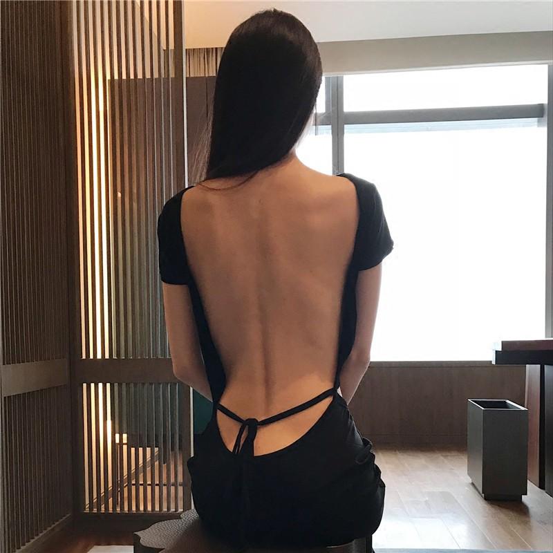 現貨泰國蘇梅島度假性感大露背連衣裙氣質女神蜜月旅行顯瘦度假長裙