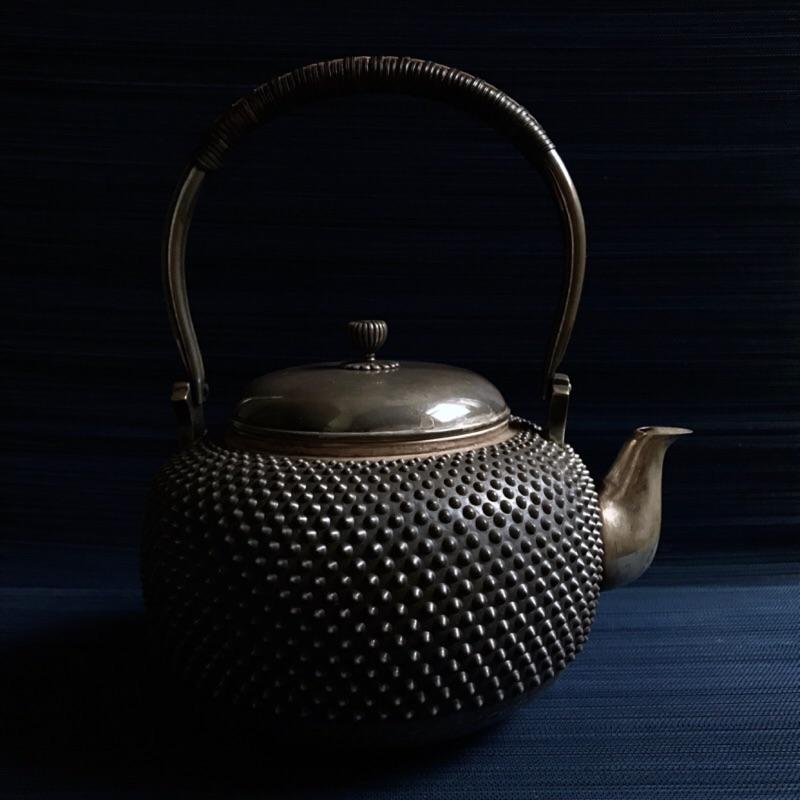 日本🇯🇵霰紋老銀壺