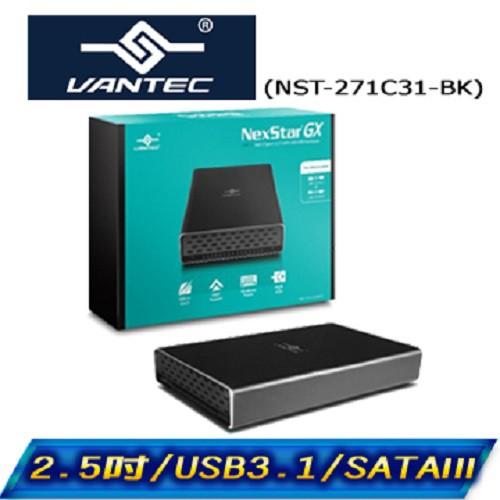 凡達克 傳輸精靈 2.5吋 USB 3.1 Gen II Type-C硬碟外接盒 NST-271C31-BK