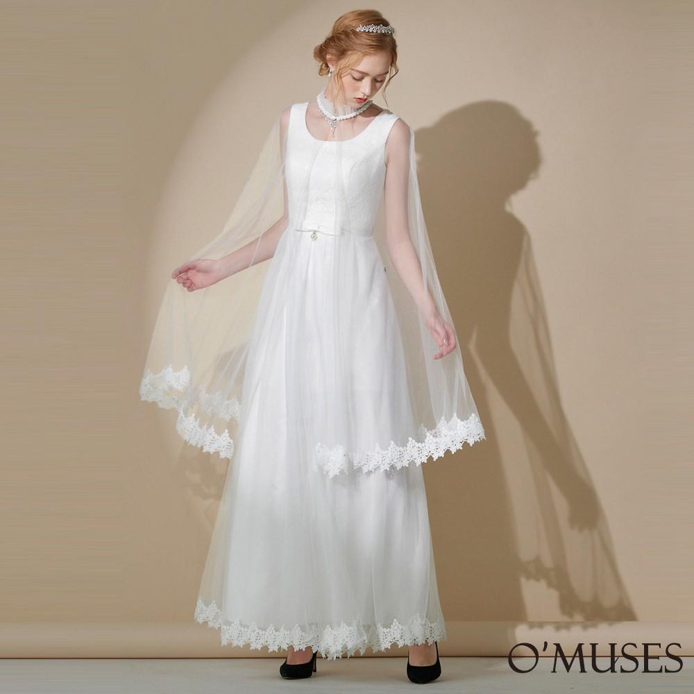 【OMUSES】兩件式白紗新娘伴娘長禮服19-A2041