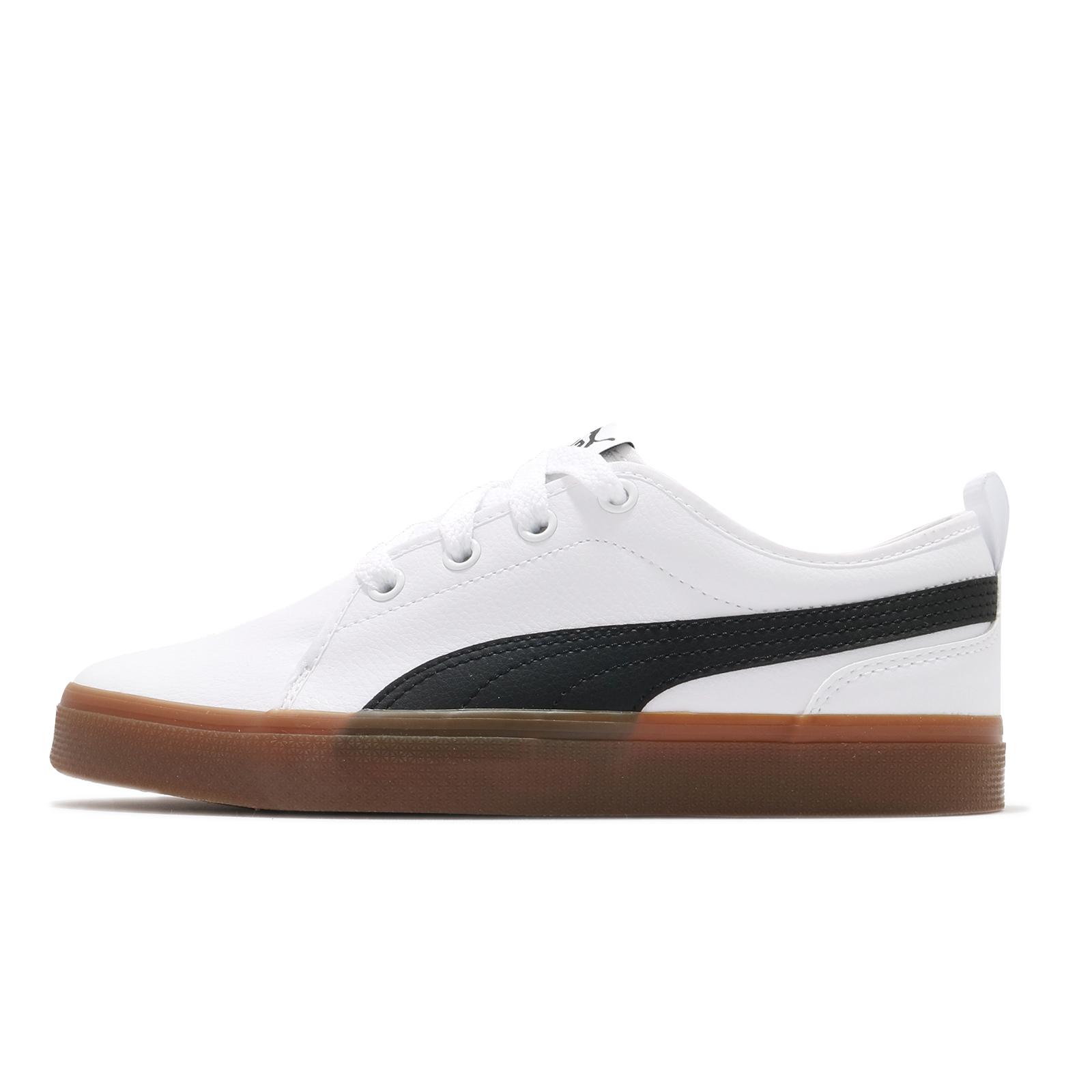 Puma 休閒鞋 S Street Vulc NC GC 白 黑 皮革 男女鞋 膠底設計 【ACS】 36792801