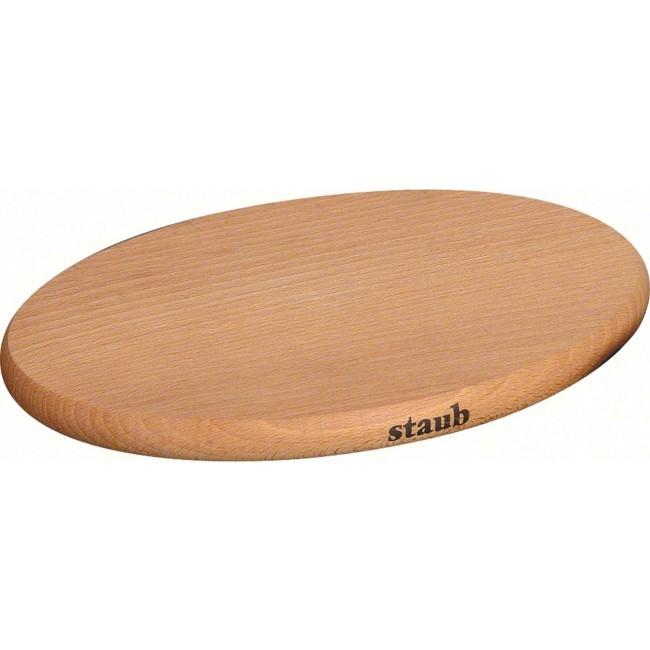 【Staub 團購】Staub 磁性 隔熱墊 磁性木板 鍋墊  木墊 木 墊
