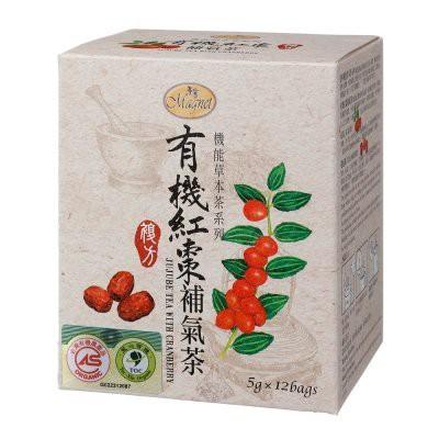 ~* 萊康精品 *~  曼寧 有機紅棗補氣茶 5g*12 成份:有機蔓越莓、有機黑莓葉