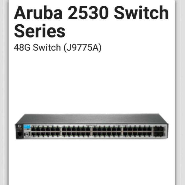 HP Aruba 2530 Switch 48G (J9775A)Gigabit Layer2交換器