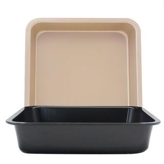 【廠家24H發貨】DIY正方形烤盤 不粘蛋糕模 6吋8吋正方形烤盤 披薩盤 蛋糕模具