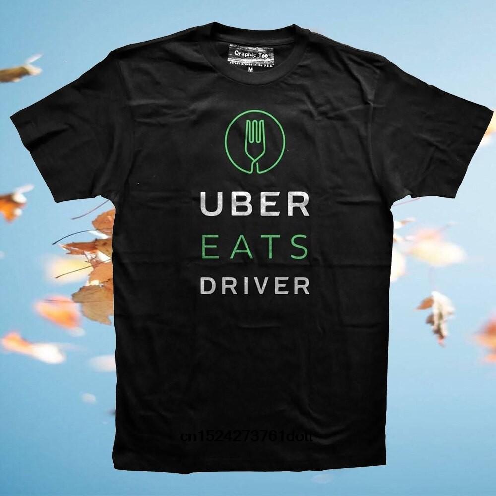 【現貨】搞笑男士T卹白色T卹T卹黑色T卹Uber Eats男士
