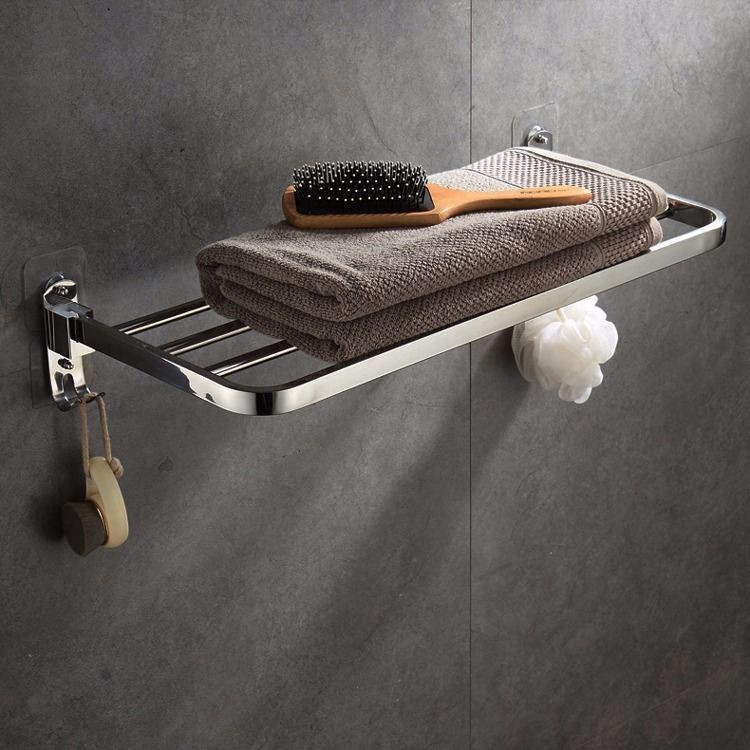 居家熱銷浴巾毛巾掛架 SUS304不鏽鋼二號店 可摺疊 免打孔 加厚 帶掛鉤 浴室衛生間更衣架 活動架