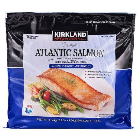 【蝦皮茉兒】宅配免運 🚚 科克蘭 冷凍鮭魚排 1.36公斤 產地挪威 COSTCO 好市多