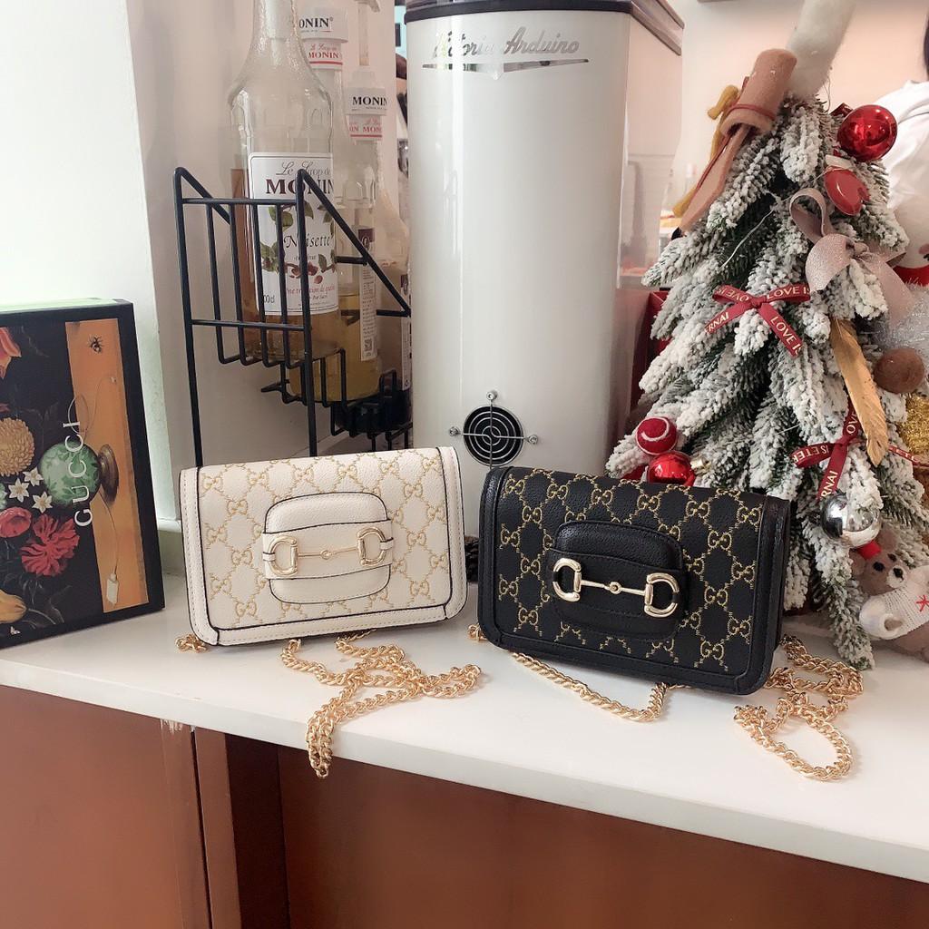 【夢工廠】實拍特價 Gucci 古馳G家新款刺繡系列 馬銜扣鏈條包 鏈帶包 肩背包 女包 內置鏡子和多卡位設計超級實用