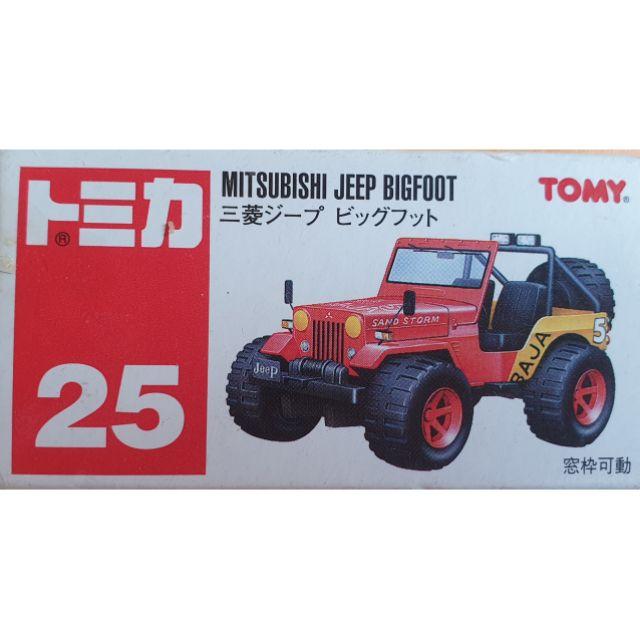 【老K的收藏品】TOMY TOMICA 多美 NO.25三菱大腳吉普車