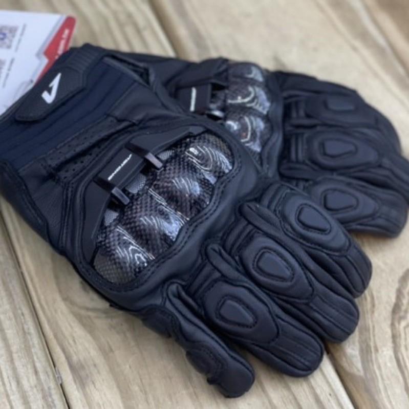🛵大葉騎士部品 Astone LC01 真羊皮質 碳纖維 短手套 防摔 手套 四季 透氣 黑色