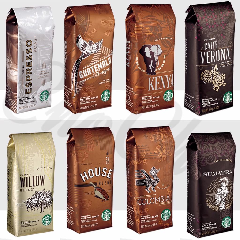 星巴克咖啡豆 輕柳綜合 瓜地馬拉 星巴克家常 肯亞 哥倫比亞 派克市場 佛羅娜綜合 蘇門答臘 春讚 50週年黃金中深烘焙