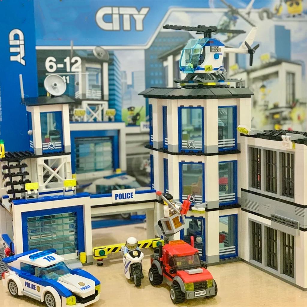 樂高警系局60141城市組系列動腦力警察局男孩子益智拼裝積木玩具