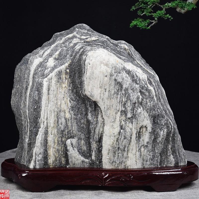 A風水擺件✸▫開光泰山石原石敢當辦公靠山石頭假山鎮宅青石風水奇石真中大擺件