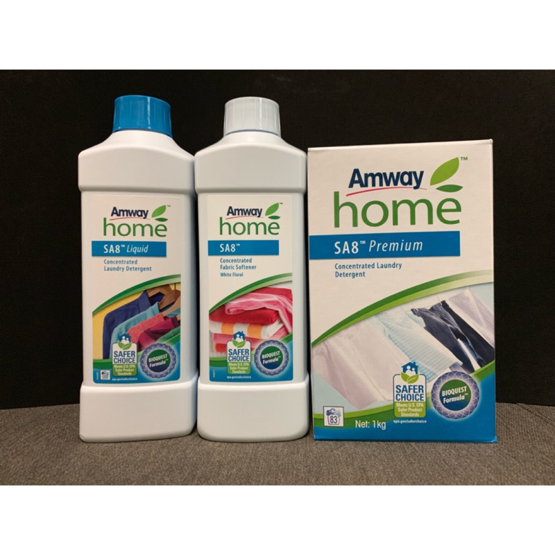 Amway 安麗 三合一超效洗衣精 衣物柔軟精 易潔劑 超效活氧漂白劑