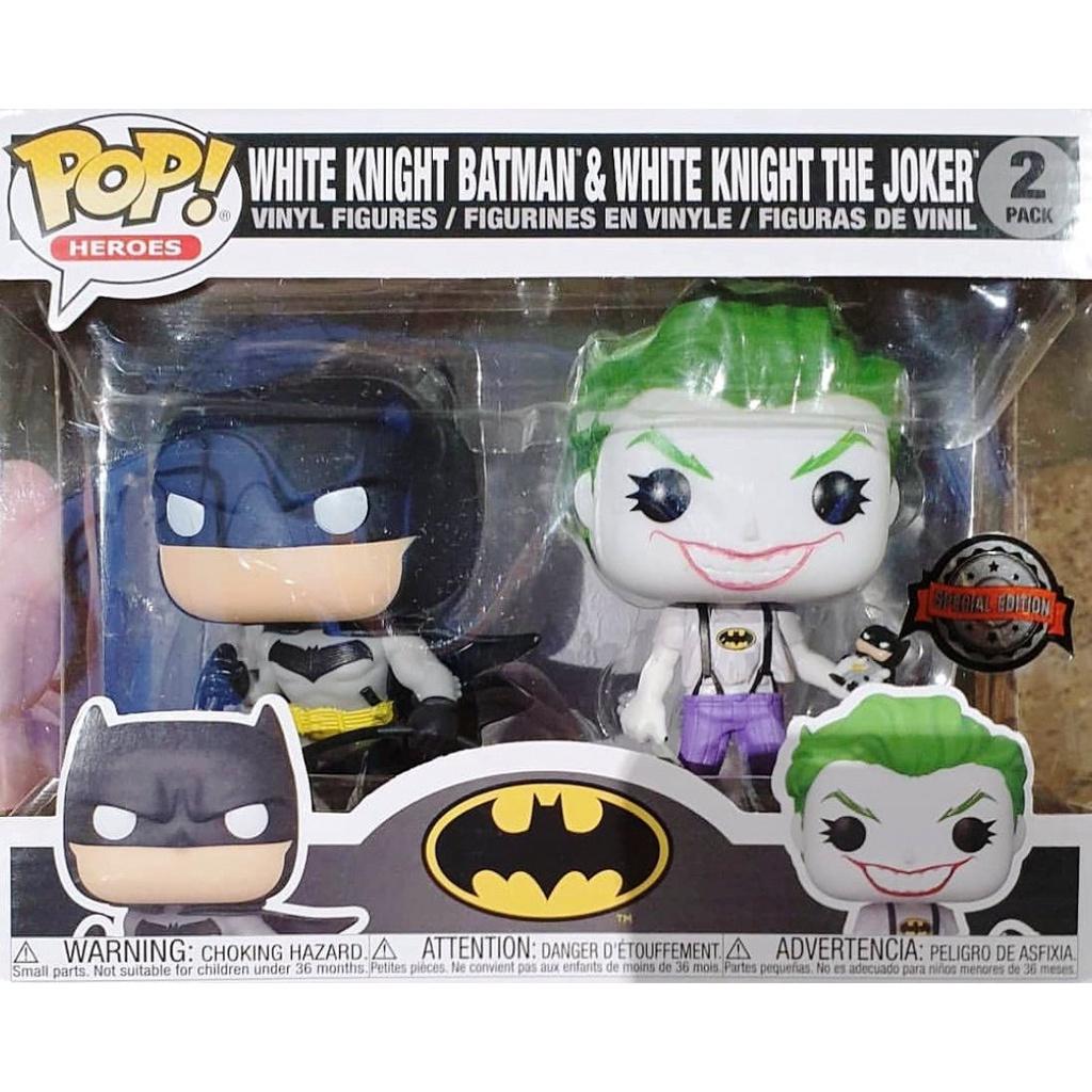 {克拉克玩具}FUNKO POP DC 白色騎士 蝙蝠俠 +小丑 Batman Joker 雙入組