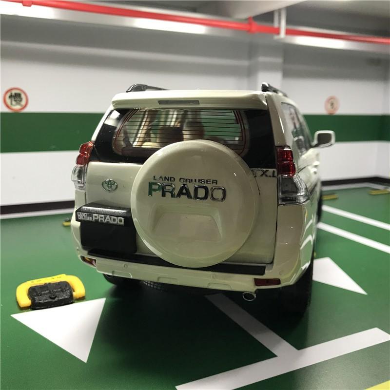 一汽豐田霸道普拉多帶備胎合金汽車模型1 18原廠
