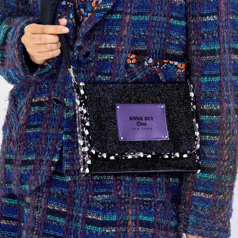 ❤️ 日雜附錄 mook ANNA SUI mini 滿版 金蔥亮側背包 肩背包 護照包 斜背包 化妝包 手拿包