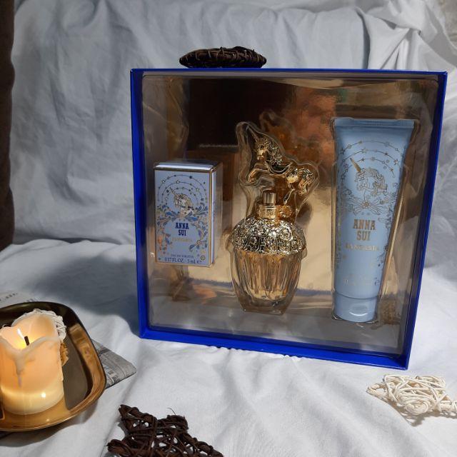 Anna Sui 童話獨角獸女王假期禮盒 淡香水50ml+5ml、身體乳90ml