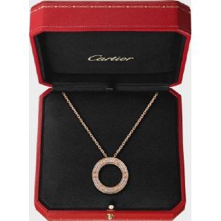 卡地亞(Cartier)愛項鍊,鑲鑽石白金,鑽石可以選擇盒子