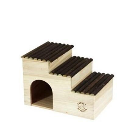 可到付倉鼠窩VICKY龍貓木屋兔窩兔子木屋豚鼠木屋天竺鼠木屋木房子 階梯屋